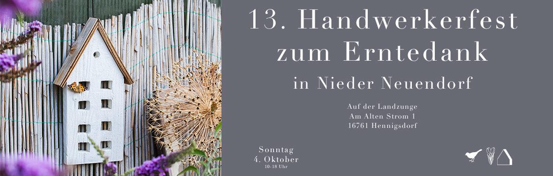 C&C HOLZMANUFAKTUR – 13. Handwerkermarkt zum Erntedank am 4. Oktober 2020 in Hennigsdorf