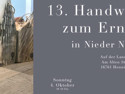 C&C HOLZMANUFAKTUR - 13. Handwerkermarkt zum Erntedank am 4. Oktober 2020 in Hennigsdorf