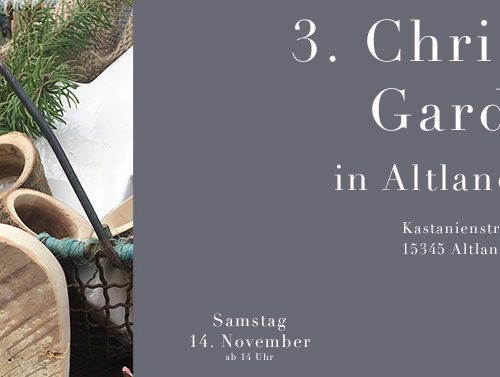 C&C HOLZMANUFAKTUR - 3. Christmas Garden am 14. November 2020 in Altlandsberg