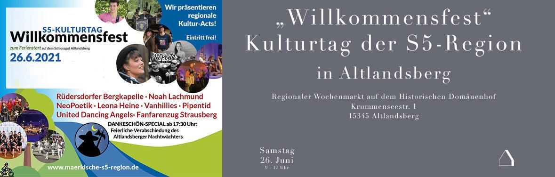 C&C HOLZMANUFAKTUR – Willkommensfest – Kulturtag der S5-Region am 26. Juni 2021 in Altlandsberg