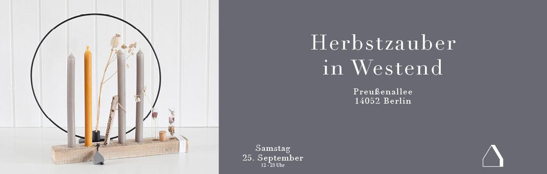 C&C HOLZMANUFAKTUR – Herbstzauber in Westend am 25. September 2021