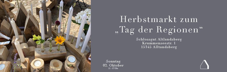 """C&C HOLZMANUFAKTUR – Herbstmarkt zum """"Tag der Regionen"""" in Altlandsberg"""
