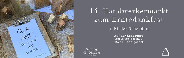 C&C HOLZMANUFAKTUR – 14. Handwerkermarkt zum Erntedank am 03. Oktober 2021 in Hennigsdorf